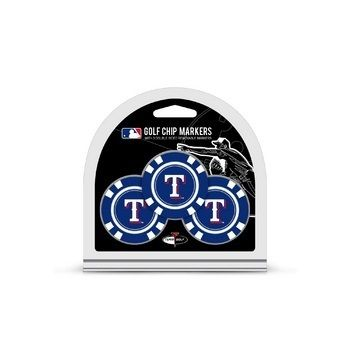 Texas Rangers Golf Chip with Marker 3 Pack