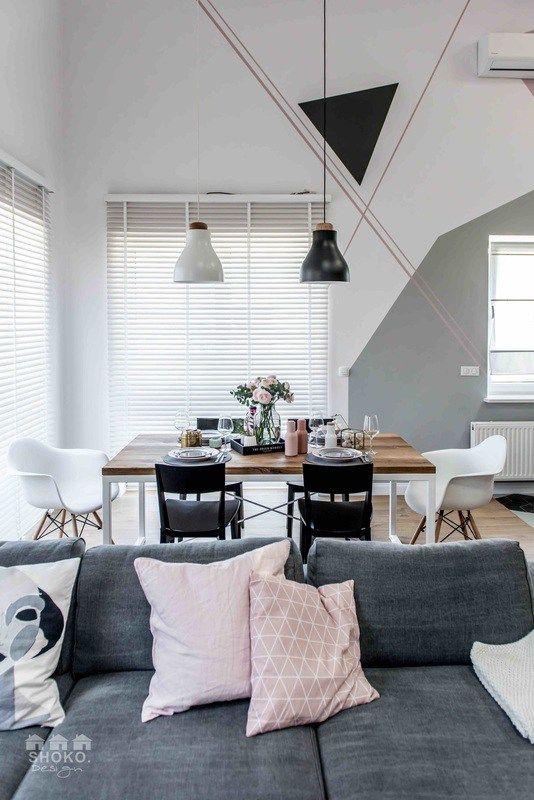 Casinha colorida: Inspiração escandinava e padrões geométricos