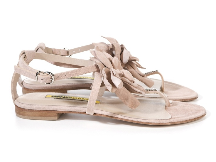 Gaia pink suede flat sandals