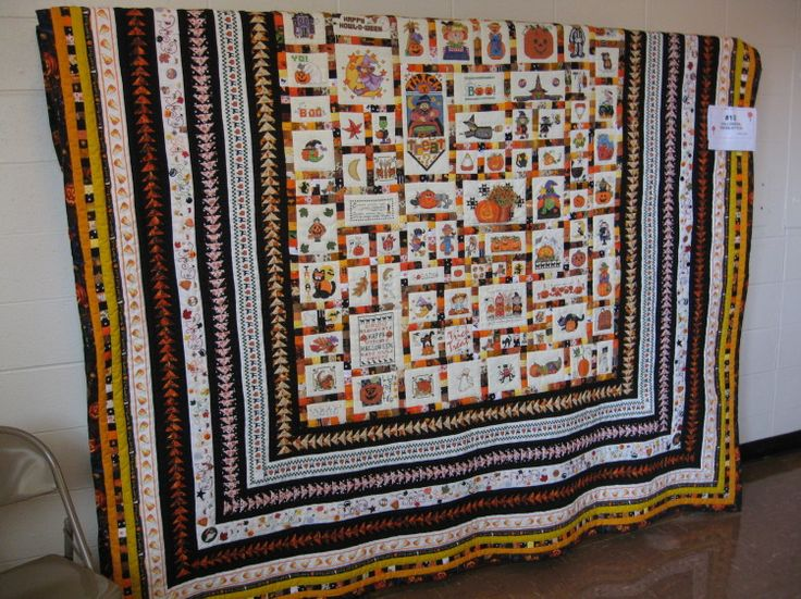 By popular demand, the Cross Stitch Halloween quilt reprised. - My Quilt Place