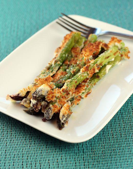 Roasted Asparagus Gratin