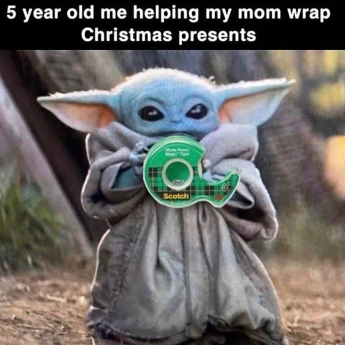 19 2k Likes 87 Comments Maclunky Star Wars Greats On Instagram What S Your Favorite Part Of The Holidays Yoda Funny Yoda Meme Funny Star Wars Memes