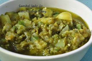 sambal lado ijo padang - recepie in bahasa
