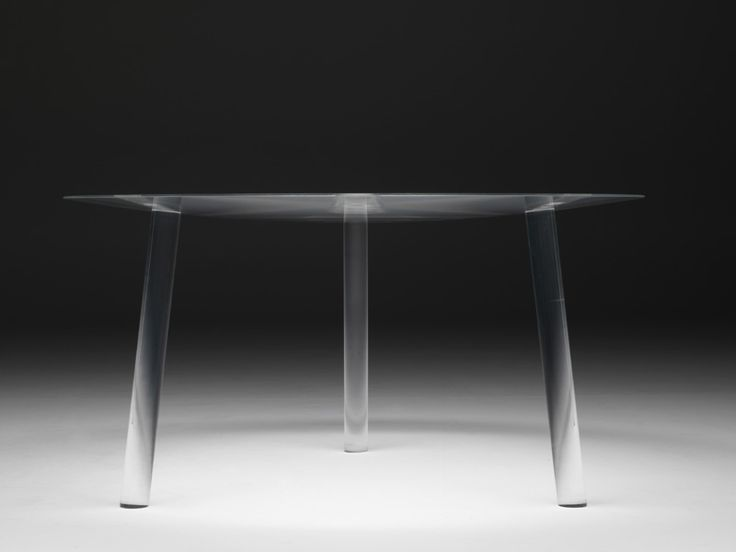 Round Plexiglass Table DROP TABLE By Living Divani Design Junya Ishigami