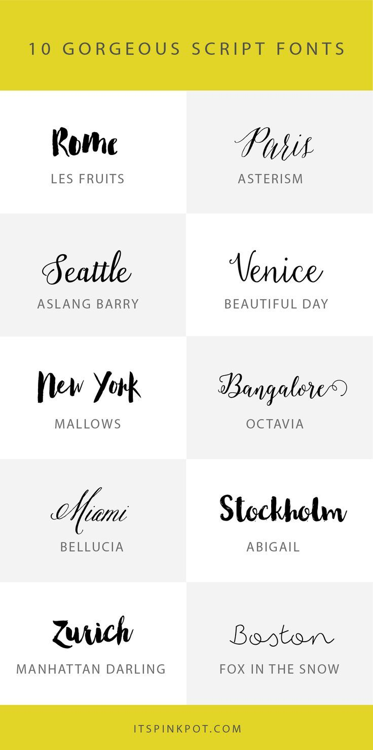 Free illustration g typography font font name free image on - 10 Gorgeous Script Fonts
