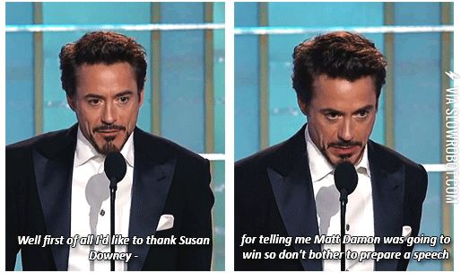 RDJ being RDJ----you mean tony being tony