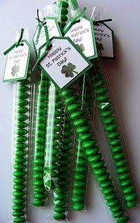 green m sticks! Nice little classroom treat