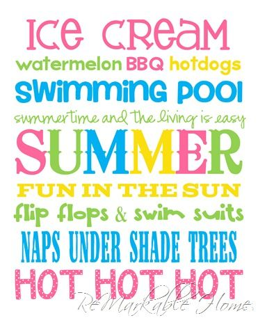 ReMarkable Home: SUMMER SUBWAY ART {Printable}