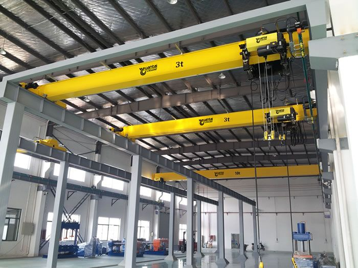 European style single girder overhead cranes have the design concepts of small dimension, light dead weight and so on. Compared with traditional crane,European style single girder overhead crane has the minimum limiting distance from hook to wall, lower headroom and higher lifting height.  skype: cherry.swallow Email: christine@ytcrane.com Web: http://www.ytcrane.com
