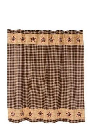 Bingham Star Shower Curtain - Primitive Star Quilt Shop - 1