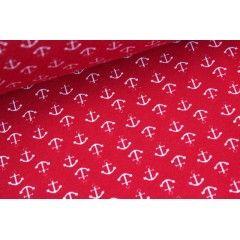Jersey - Kleine Anker - Rot - 150cm