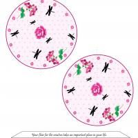 Give a like for free printable Paper crafts! Dragonfly Garden Fortune Cookie