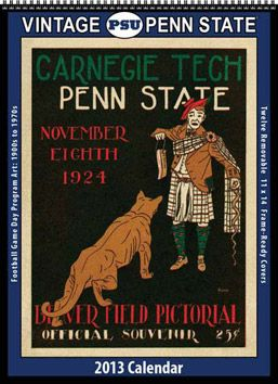 asgardpress.com: 2013 Vintage Penn State Nittany Lions Football Calendar (9781603687157): Asgard Press