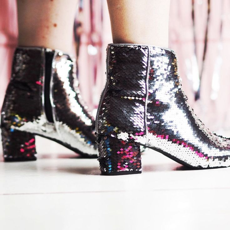 plus size sequin boots