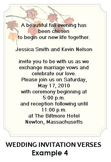 Wedding Invitation Wording Examples     Yahoo Image Search Results