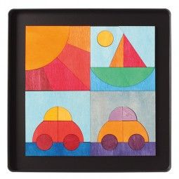 Magnet Puzzle Cars, Boat & Sun