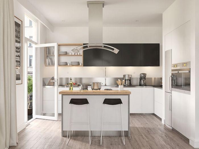 53 best maison images on Pinterest Carpentry, Kitchen small and - espace entre plan de travail et meuble haut