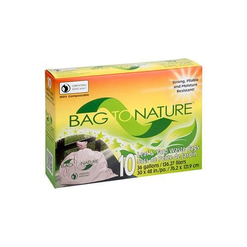 Bag To Nature Lawn And Leaf Biodegradable Waste Bags - 10 Pack
