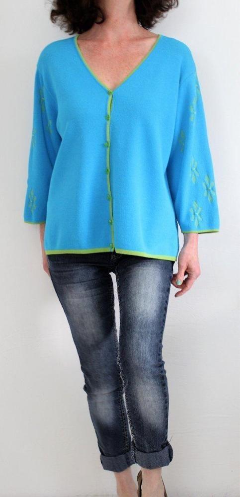 Marisa Christina Fluid Fabric 3/4 Sleeve Vneck Button Down Cardigan Lou Sz XL #MarisaChristina #Cardigan