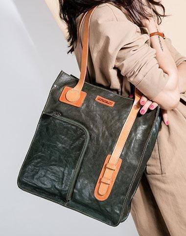 eca0c4ccbe0f Genuine Leather Handmade Handbag Tote Bag Shoulder Bag Purse For Women  Leather Shopper Bag