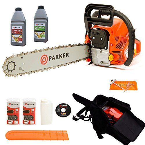 "A highly affordable petrol chainsaw that combines high performance and a robust, lightweight design our Parker 58cc 20"" Petrol Chainsaw puts you in control, with a powerful engine and a high grade blade for effortlessly cutting through logs and timbers."