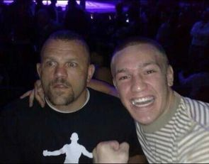 A young Conor Mcgregor meeting Chuck Liddell