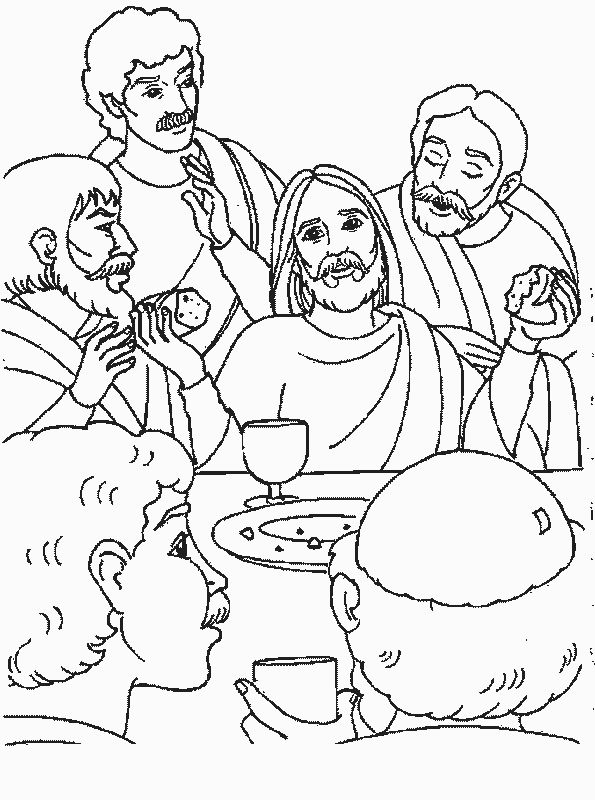 lords supper coloring pages - photo#29
