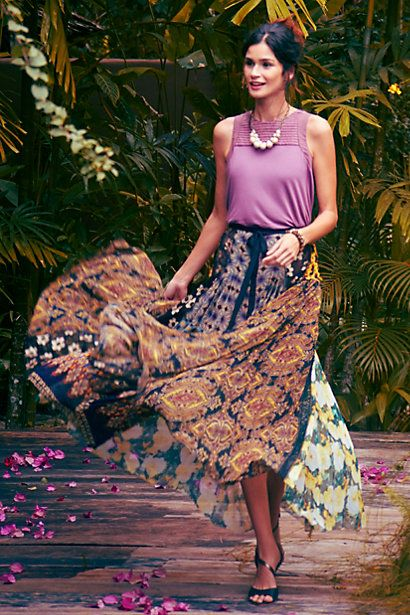 Malva Tank #anthropologie The most beautiful and exotic outfit I've seen!