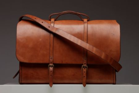 An artisanal leather bag from ETWAS