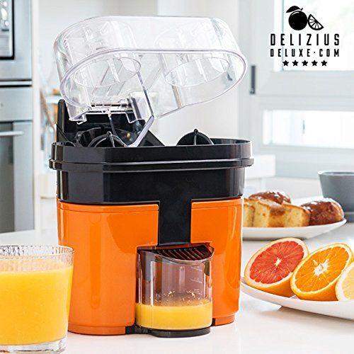 Appareil à double presse-agrumes électrique jus d'orange facile: Cette machine vous aide à façonner du jus d'orange fraîchement pressé avec…