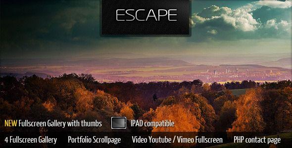 Escape Portfolio Gallery - Portfolio Creative Template. Live Preview & Download: http://themeforest.net/item/escape-portfolio-gallery/291010?s_rank=707&ref=yinkira