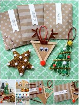 15 Adornos de Navidad que puedes hacer con tus hijos - Adornos de Navidad infantiles