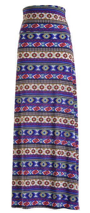 Maxi falda azteca, encuentra más modelos de esta prenda aquí...http://www.1001consejos.com/top-10-maxi-faldas/
