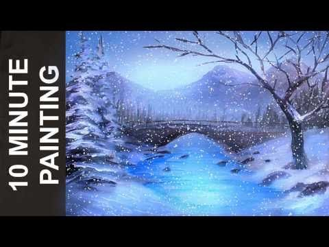 How To Paint Trees Full Slow Video Quot Apple Barrel Quot Acrylics