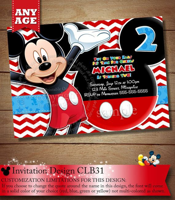 146 Best Kiddies - Mickey Mouse Party Ideas Images On Pinterest