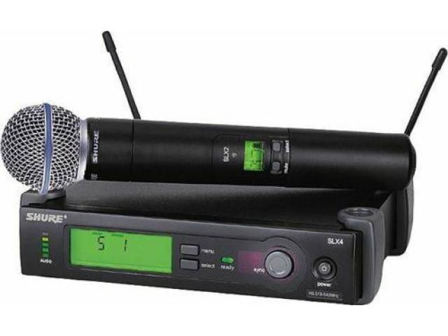 Shure SLX 24/Beta 58 Wireless Handheld Vocal Microphone System - $350 (Sheepshead Bay)