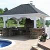 Schöne Außenküchen & Kaminbereich