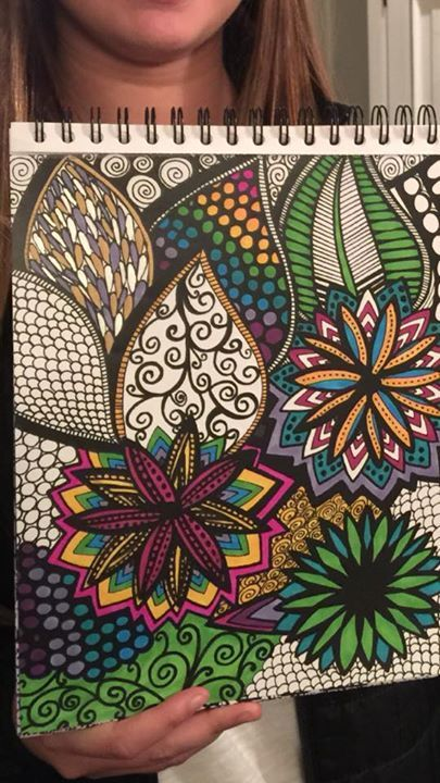 User Submission From Our ColorIt Adult Coloring Book Calming Doodles Volume 1