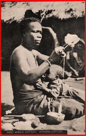 Nigeria, woman spinning