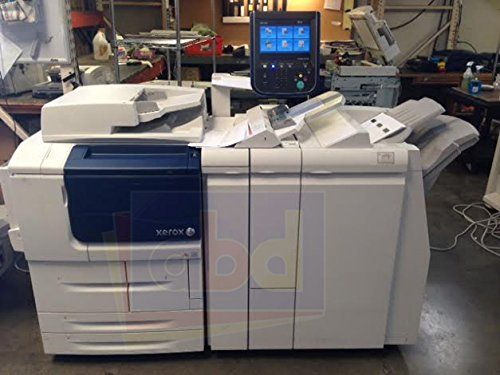 """Refurbished Xerox D110 Monochrome Production Printer - 110ppm, Copy, Print, Scan, Finisher with Stapling and 2/3-Hole Punch, 4 Trays. Configuration: Copy, Print, Scan, 4 Trays, and MLA Stapler Finisher with 2/3-Hole Punch. Print Speed: 110 ppm A4 / 55 ppm A3. Maximum Paper Size: 13"""" x 19.2"""" or A3+. Paper Capacity: 5,150 sheets / 8,050 sheets with options. Includes minimum 50% Consumables and 30-Day Parts Warranty."""