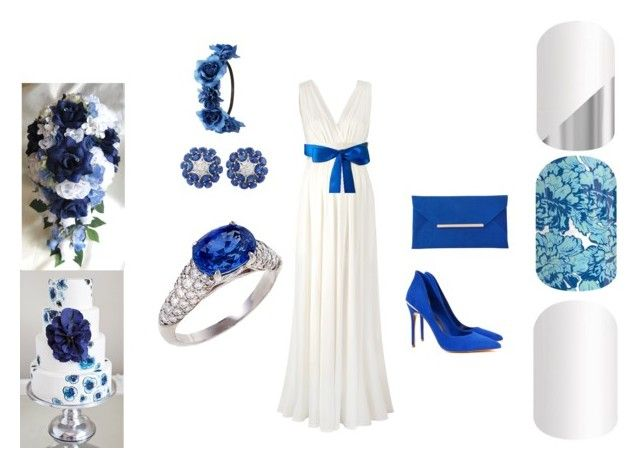"""""""Jamberry Nails - Blue Wedding"""" by kspantonjamon on Polyvore featuring beauty, Charlotte Russe, Ted Baker and John Lewis"""