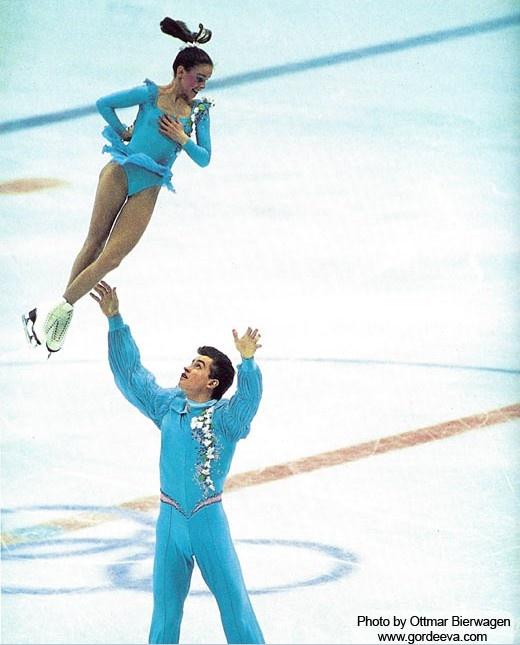 Katia Gordeeva & Sergei Grinkov, 1988 Olympics, Pairs costume inspiration for Sk8 Gr8 Designs