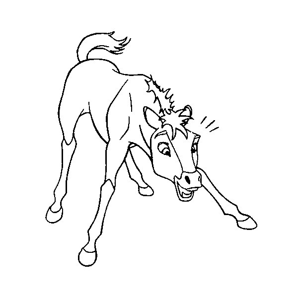 free horse coloring pages spirit - photo#31