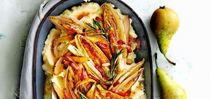 Janneke: 'Ik maak dit gerecht vaak met een combinatie van wit- en roodlof. De smaak van roodlof is wat bitterder en de kleurencombi vind ik prachtig.'