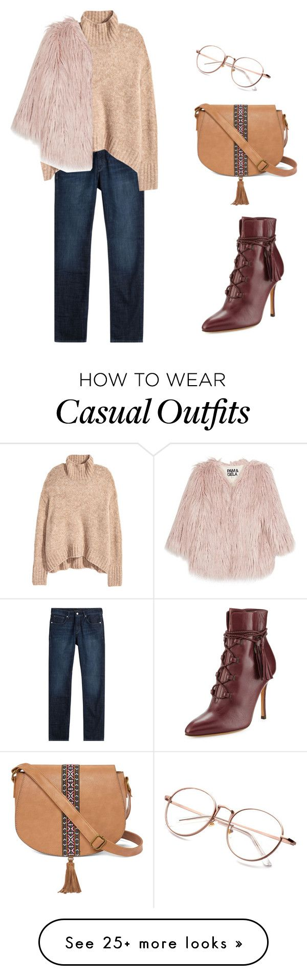 """casual elegance"" by candynena228 on Polyvore featuring Baldessarini, Valentino, Pam & Gela and T-shirt & Jeans"