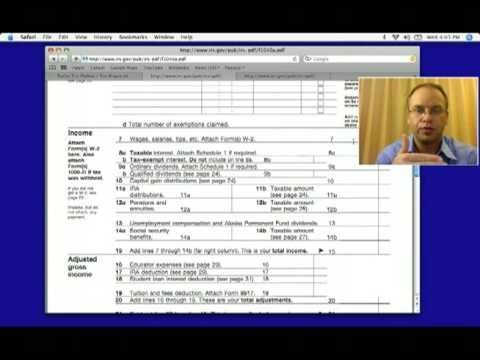 1040A Federal Income Tax Form