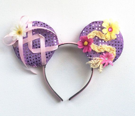 Tangled Disney inspired Ears Rapunzel Ears by ToNeverNeverland