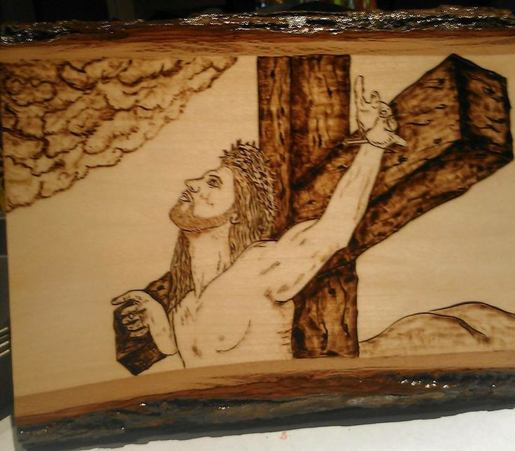 Jesus on the cross | Wood burning | Jesus on the cross ...