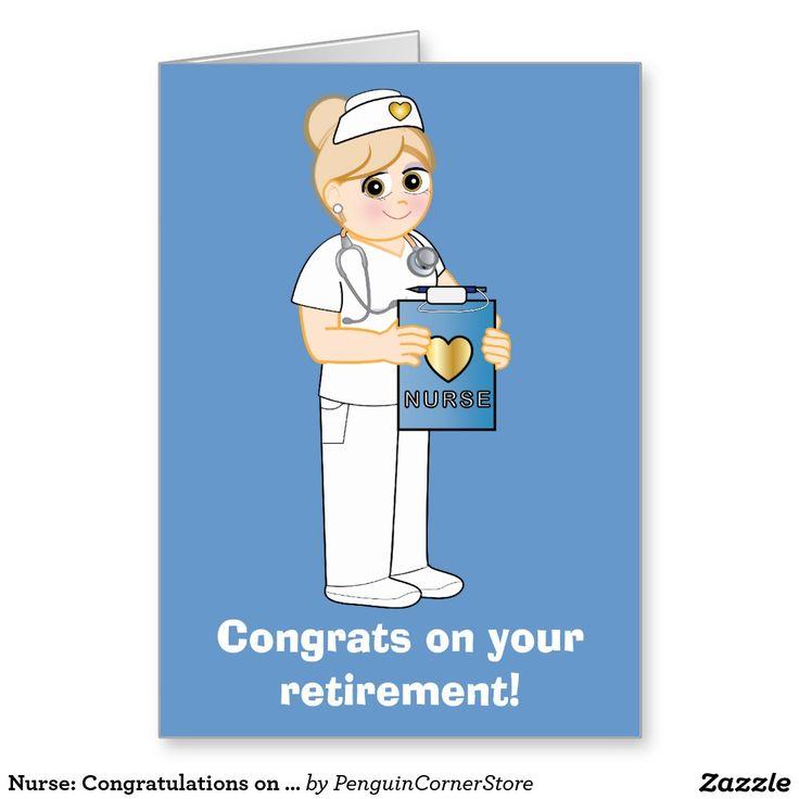 Nurse: Congratulations on Your Retirement Card
