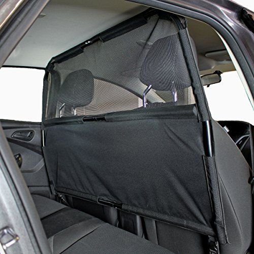 """Paws 'N' Claws - Deluxe Dog Barrier 50"""" Wide - Ideal for Smaller Cars, Trucks, and SUV's - Patent Pending - Pet Restraint Car Backseat Divider Vehicle Gate Cargo Area Paws 'n' Claws http://www.amazon.com/dp/B0076A0M6Y/ref=cm_sw_r_pi_dp_t4Zuwb198Y5DD"""